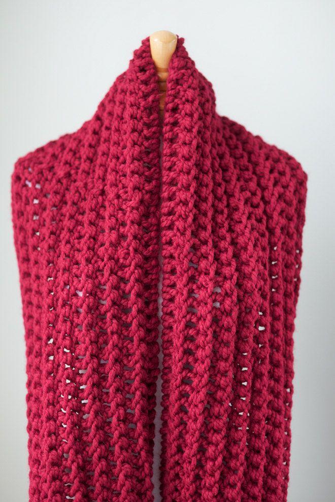 Esta es la versión de gran tamaño de mi bufanda la eternidad o el infinito con