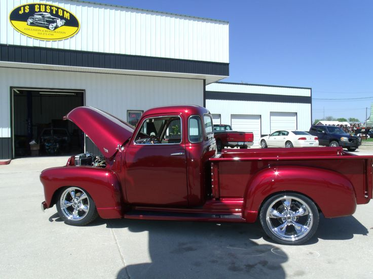 1950 Chevy truck with a 4 cylinder Cummins motor