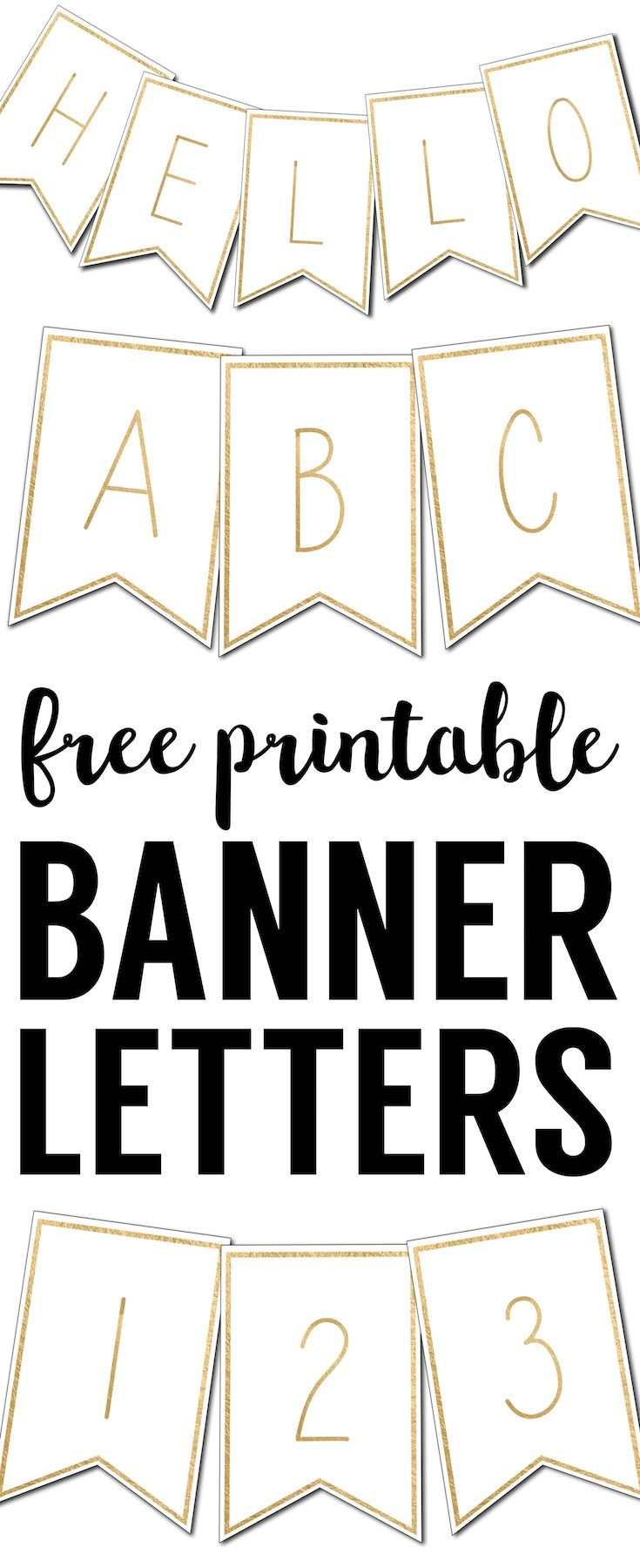 Free Printable Banner Letters Templates Free printable