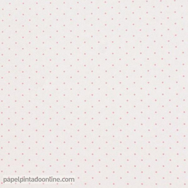 Papel pintado infantil babies 10147 con topitos en rosa - Papel pintado infantil ...