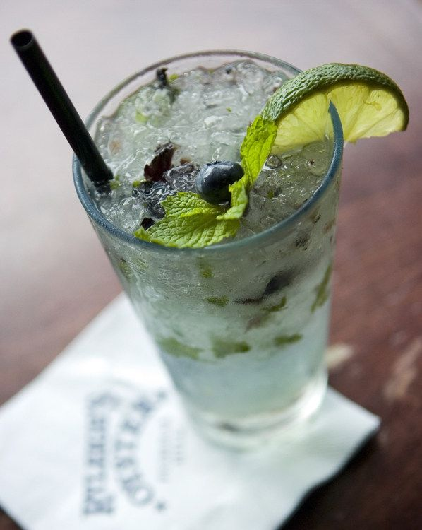 Blueberry Acai Mojito Crush @ Ryleigh's Oyster in Federal Hill. A Summer Must.