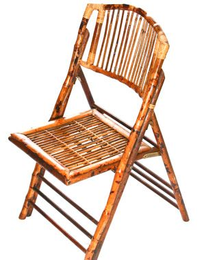 Perfect for outdoor picnics or an Asian-infused outdoor wedding. Your guests won't stop talking about them!  Bamboo Wood Folding Chair on http://libertypartyrental.com