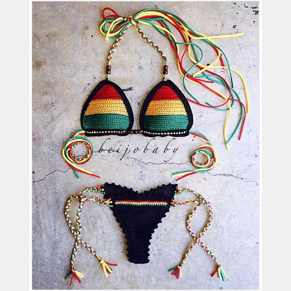 one love bikini by beijobaby on Etsy