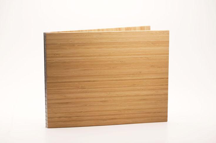 Handmade Wood Screwpost Portfolio Cover by Shrapnel Design » 11x14 Landscape » Solid Bamboo