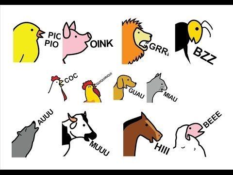 Adivina los sonidos de los animales parte - such a fun activity for Ks3!