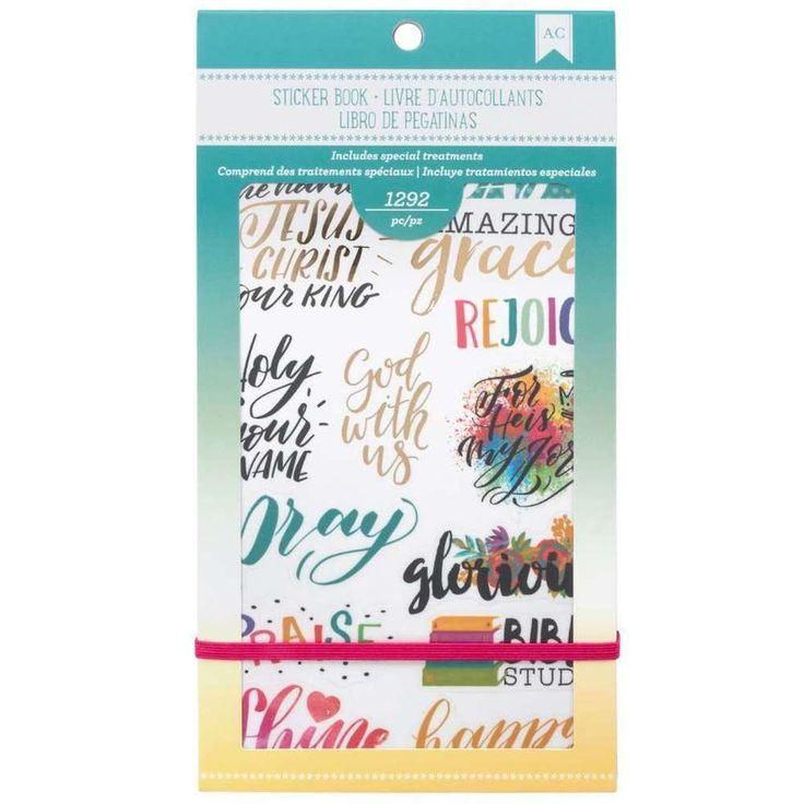 """American Crafts Planner Stickers 12-Page Book 4.75/""""X9/""""-Inspirational Life"""