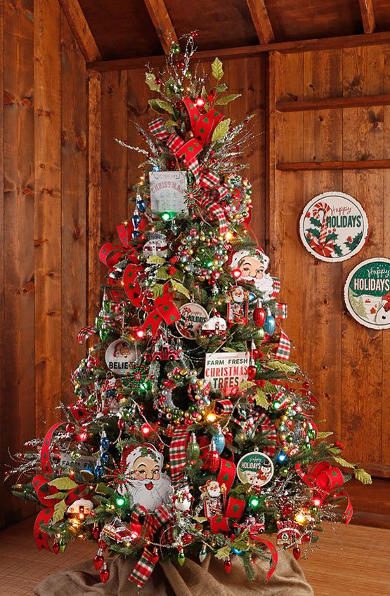 decorated christmas tree from the raz the tree lot collection shop for the retro and - Christmas Tree Shop Online