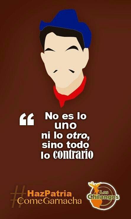 No es lo uno ni lo otro sino todo lo contrario. Cantinflas