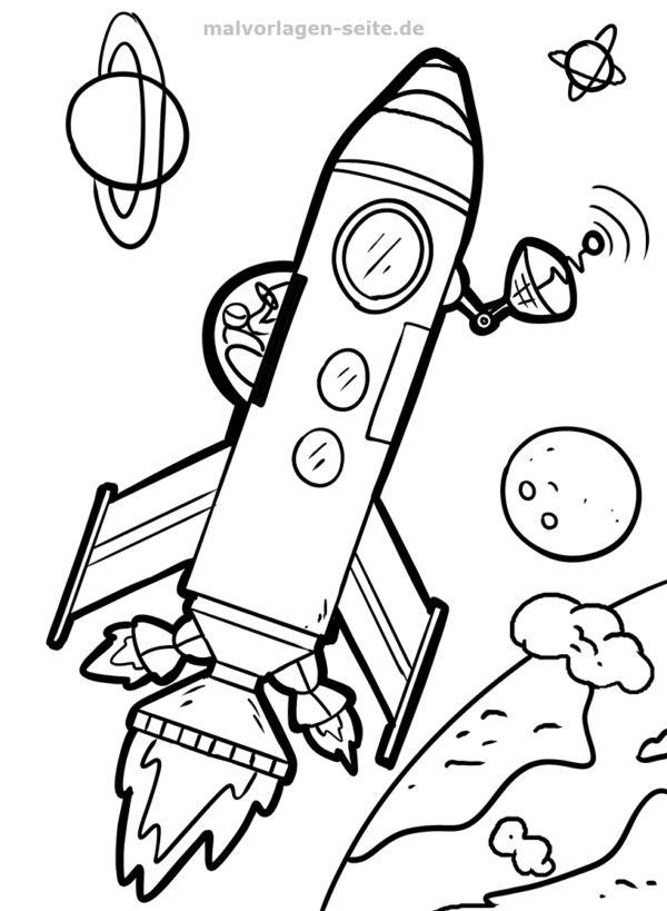 raketenmalvorlagen malvorlage rakete coloring malvorlagen