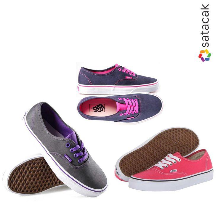 Renkli adımlar için rengarenk Vans çeşitleri Satacak.com'da! #Ayakkabı