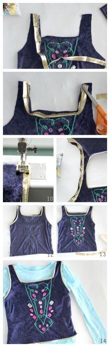 como hacer disfraz de frozen Anna