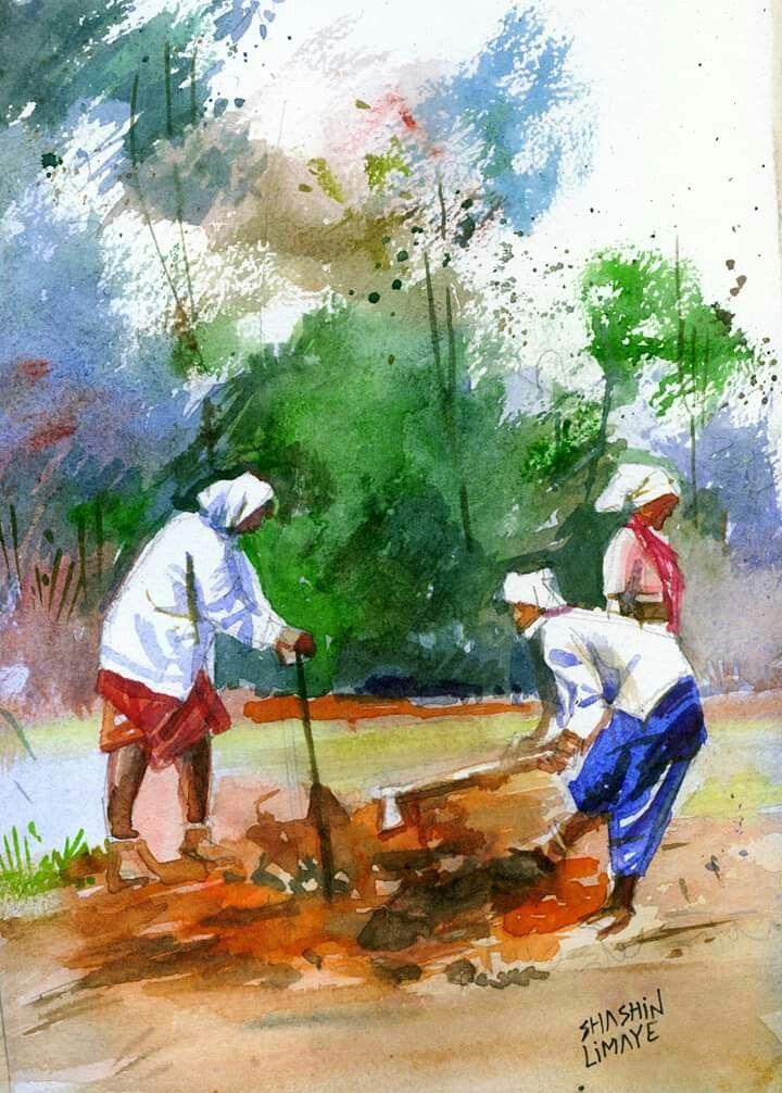 Epingle Par Darshak Gohel Sur Indian Paintings Peinture Aquarelle