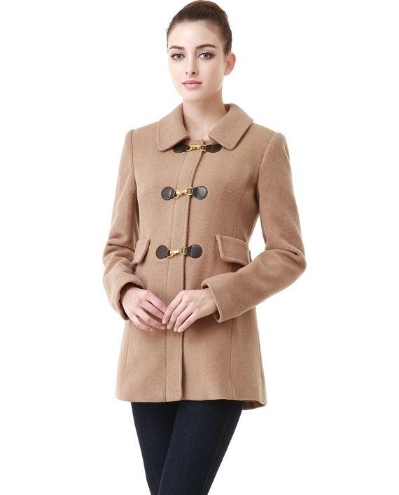 BGSD Women's 'Rory' Wool Blend Toggle Coat