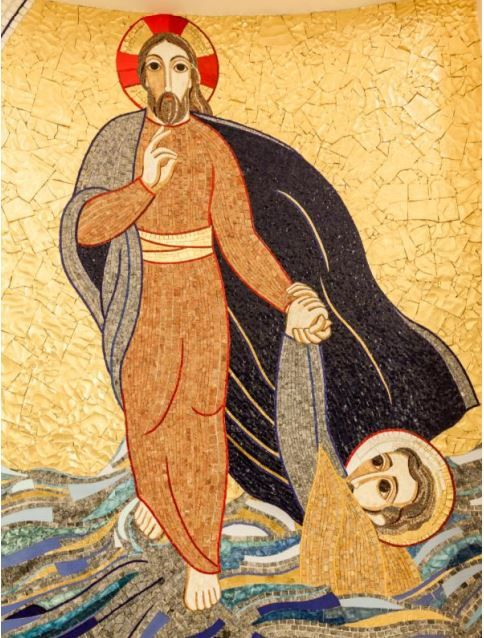 """Jésus marche sur les eaux"""", chapelle des Sœurs de Saint Vincent de Paul, Fiume"""
