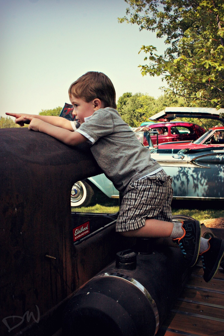 Ben playing on a 1930's ratrod
