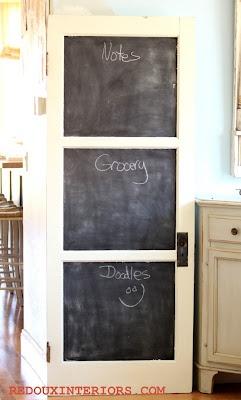 Chalk Board DoorThe Doors, Back Doors, Apartments Ideas, Chalkboards Painting, Salvaged Doors, Chalk Boards, Painting Ideas, Doors Chalkboards, Old Doors