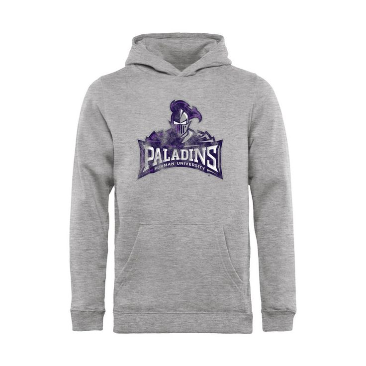 Furman Paladins Youth Classic Primary Logo Pullover Hoodie - Ash