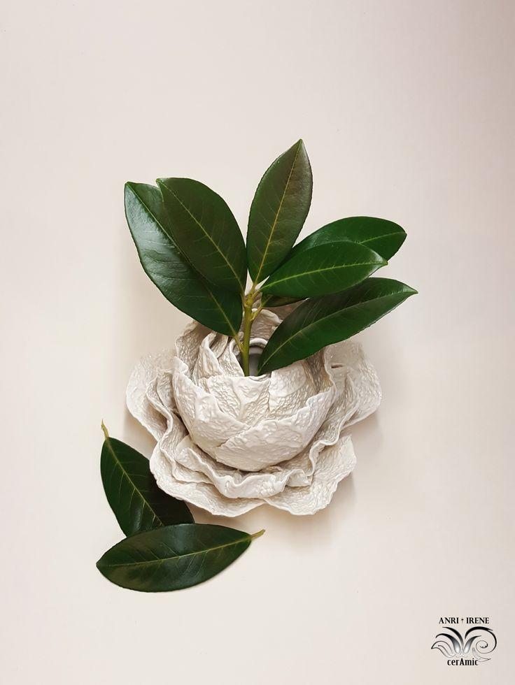 Ceramic cabbage vase, porcelain cabbage