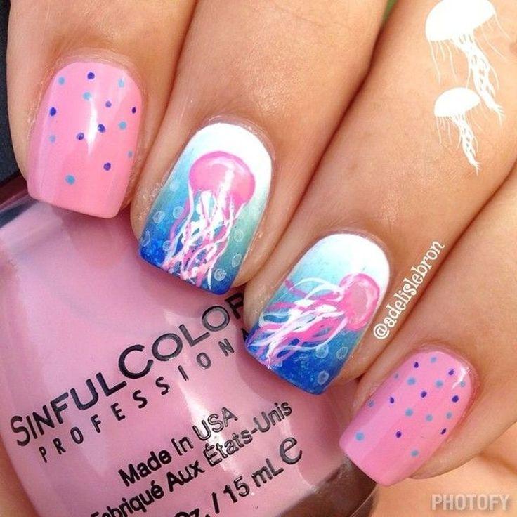 46 Creative Ocean Nail Art Design Ideas Best For Summer