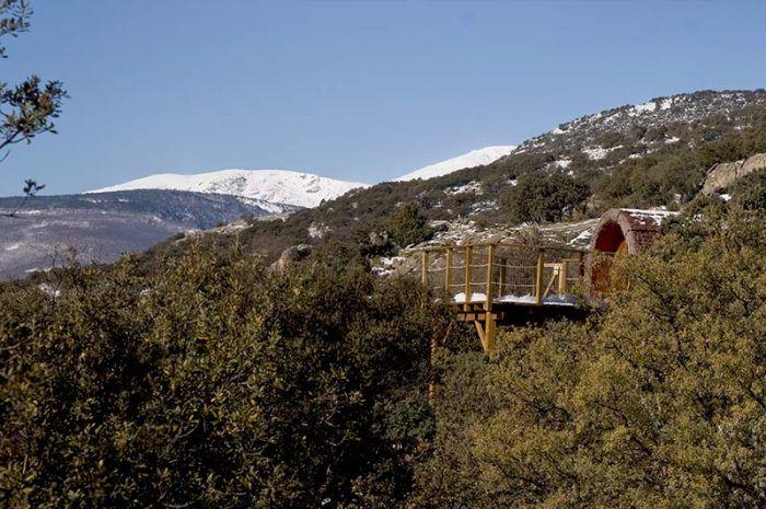 Casas En Los árboles Cerca De Madrid Monte Holiday Ecoturismo Cabaña Arbol Casa Del Arbol Cabañas