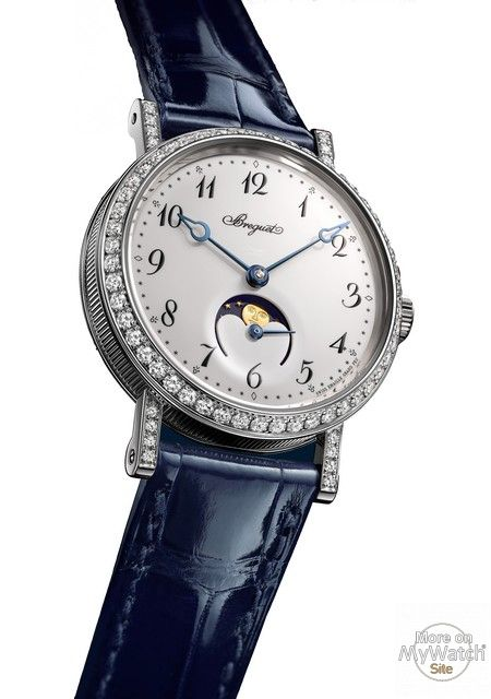 BREGUET CLASSIQUE PHASE DE LUNE DAME 9088 With its Classique Phase de Lune Dame 9088, Breguet enhances its collection of timepieces for women with a watch of...