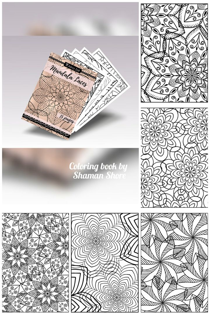 Digital Adult Coloring Book Printable Pages Mandala Laces Advanced Sheets For