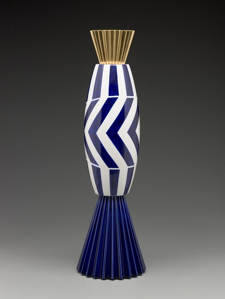 Ceramics alchemilla vase from the museum series for Sharon goldreich