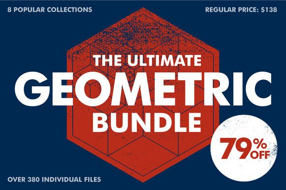 The Ultimate Geometric Bundle by Offset on Creative Market