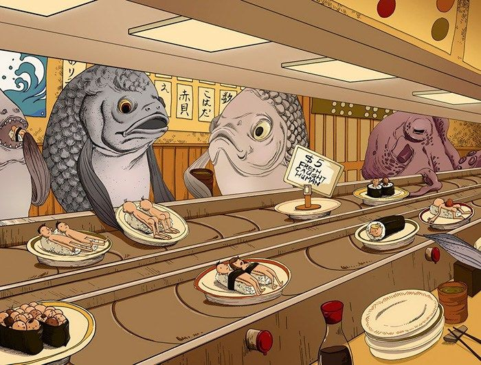32 de ilustrații șocante care arată cum s-ar simți oamenii dacă animalele i-ar…