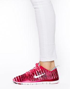 Ingrandisci Nike - Free 5.0 Tr Fit 4 Prt - Scarpe da ginnastica con stampa rossa