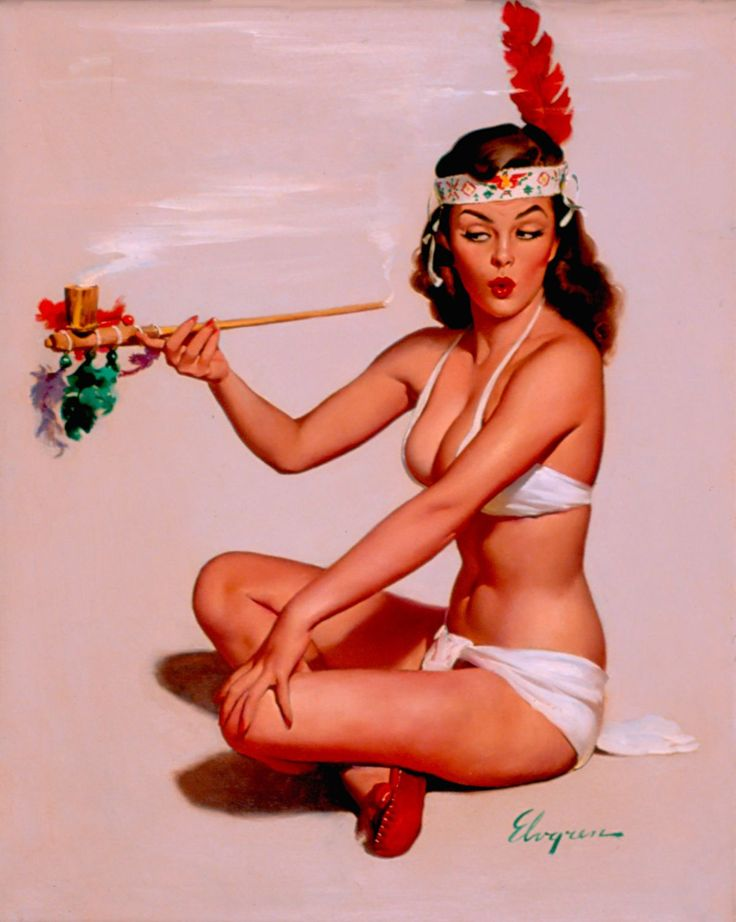 Sweet Sioux by Gil Elvgren