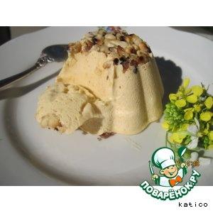 Пряное тыквенное мороженое с медом и грецкими орехами