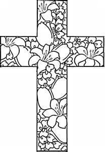 Free coloring pages make great things to embroidery. This cross for Easter. This comes from Marys craftcorner.