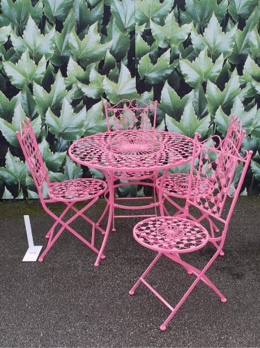 1000 ideas about metal garden table on pinterest garden for Metal garden table and chairs