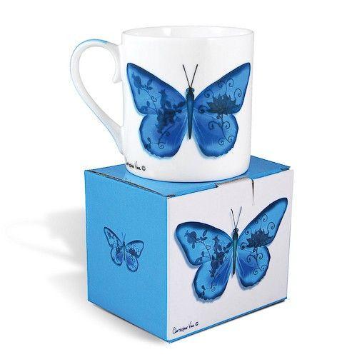 Blue Butterfly Gift Mug