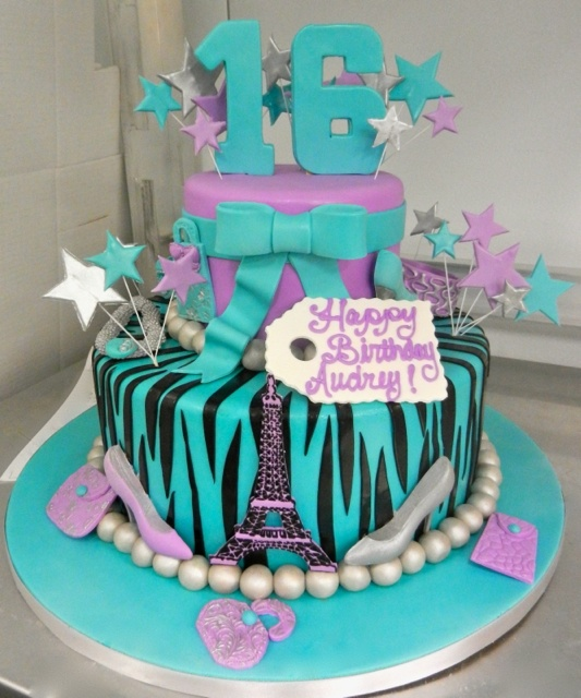 Blue Purple Silver Sweet 16 The Cake Blizzard Is Going