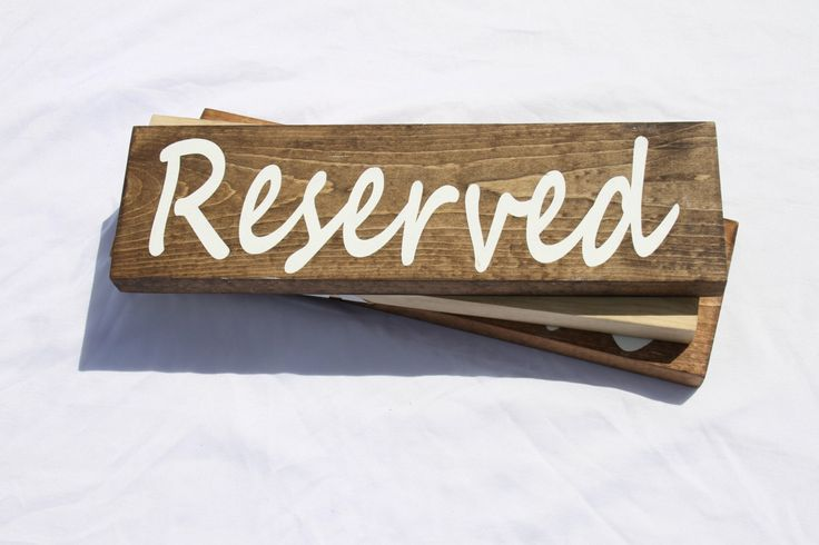Reserved Sign, Hanging Reserved Sign, Wedding Sign, Seating Arrangement Sign, Rustic Wedding, Sign, Reserved, Wedding, Seating Arrangement by treehousedesignz on Etsy https://www.etsy.com/listing/233665982/reserved-sign-hanging-reserved-sign