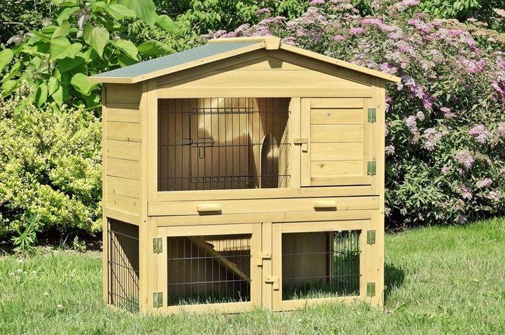 Kaninchenstall Hasenstall XXL Doppelstock mit Zinkwanne | Haustierbedarf, Klein- & Nagetiere, Käfige, Auslauf & Gehege | eBay!