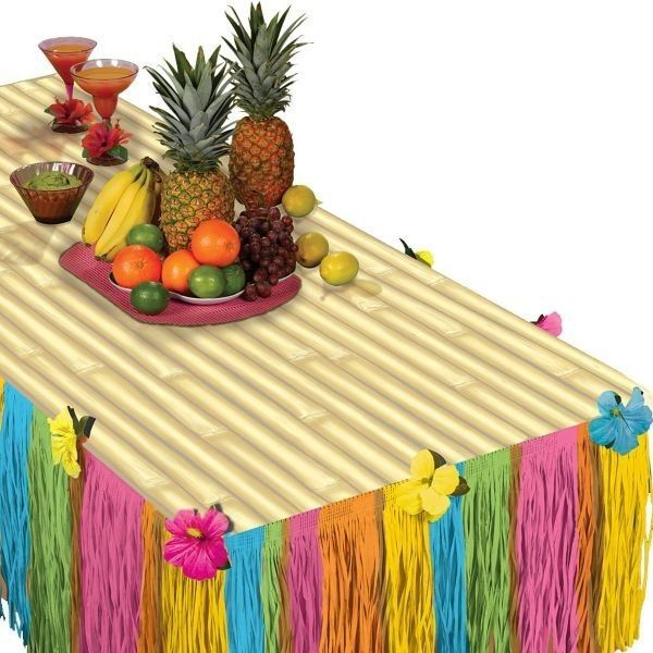 Tiki 'Transform a Table' Kit, Hawaiian Luau, Party Table Decoration Birthday 2pc | Home & Garden, Greeting Cards & Party Supply, Party Supplies | eBay!