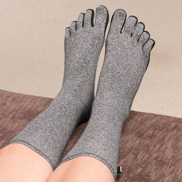 Living with arthritis can be painful but the Compression Socks with Toes is a great way to help manage the pain every day.  The socks help relieve pain, swelling and neuropathy in your feet.