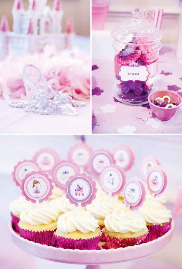 Purple Princess party cupcake kids