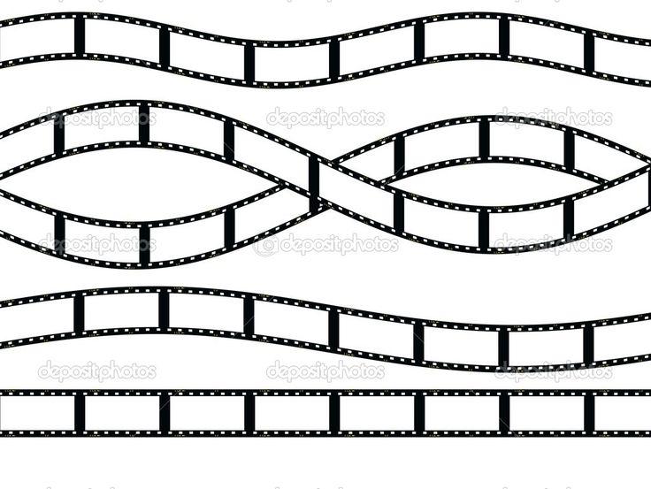 λευκό φόντο, υφή λωρίδα φιλμ απομονωμένο - Stock Image: 21447757