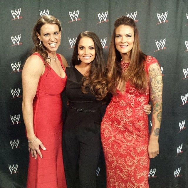 Stephanie McMahon, Trish Stratus and Lita at the Hall of Fame