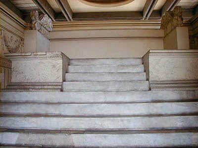 ARA PACIS.  Altar stairs.