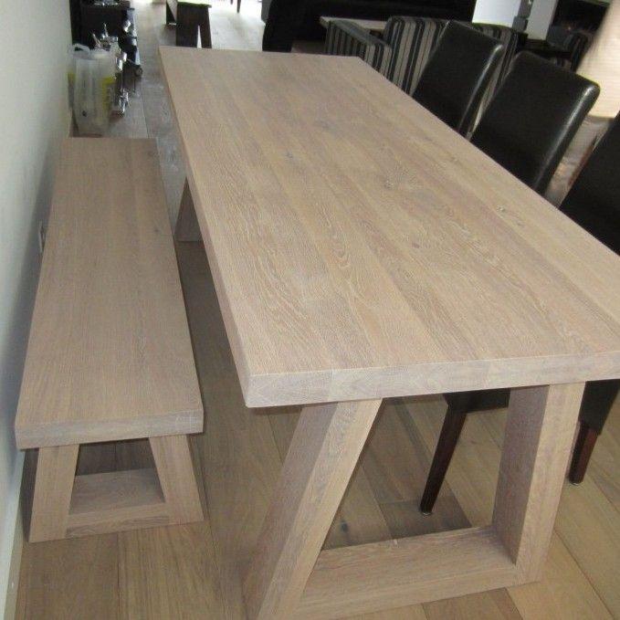 Meer dan 1000 idee n over houten tafels op pinterest boerderijtafel boerderij tafels en eettafels - Eettafel houten ontwerp ...