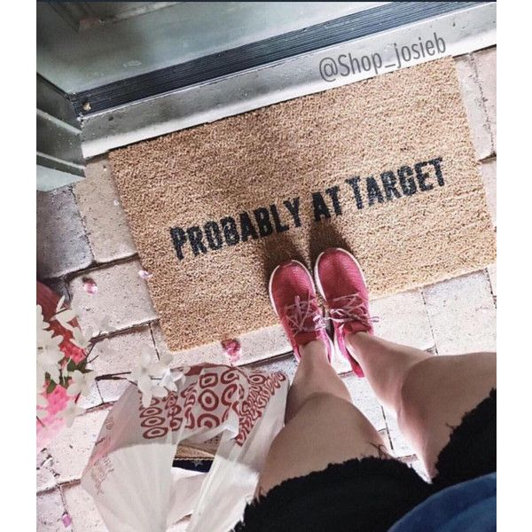 Probably at Target Doormat Doormats Home Decor Target Shopping Shop... ($40) ❤ liked on Polyvore featuring home, outdoors, outdoor decor, floor & rugs, grey, home & living, rugs, outside door mats, grey mat and outside mats