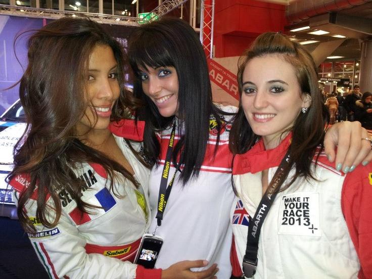 #Abarth girls at the Bologna #MotorShow12. @MotorShowBo