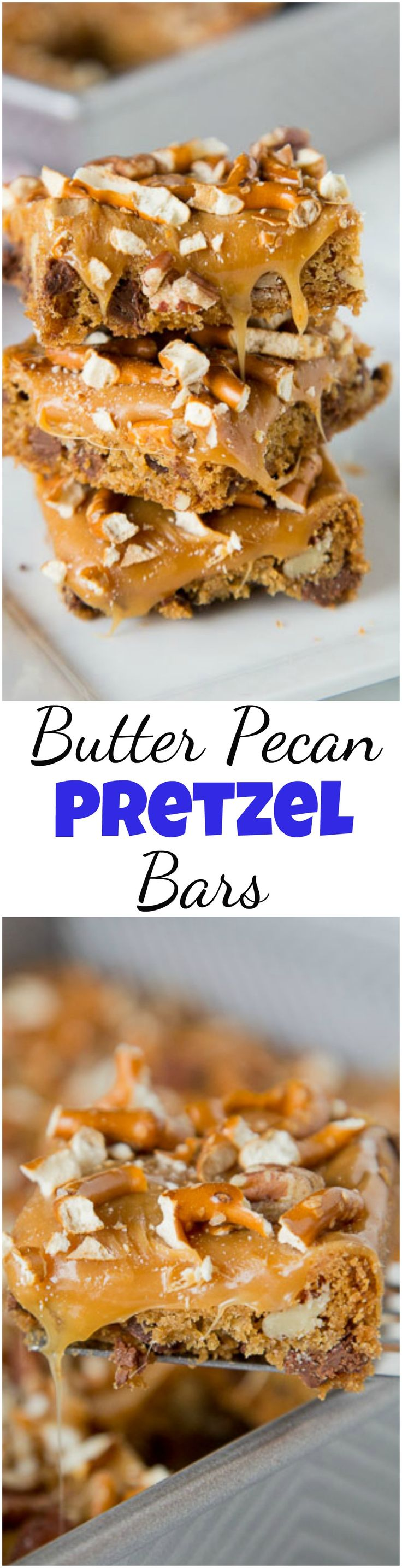 Butter Pecan Pretzel Bars - sweet and salty comes together in a super easy dessert!  Gooey caramel, pecans, and pretzels makes it extra delicious. #christmascookies #pillsbury #cookiecountdown #holidaybaking #caramel #dessert #baking #pecans #pillsburycookiecountdown @pillsbury