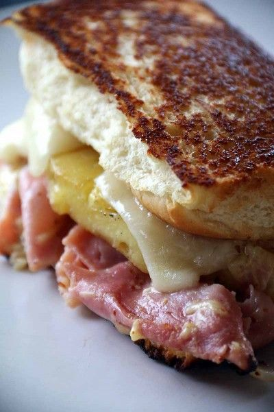 Everyone loves the baked hawaiian sandwich. This is a spin off where we made it into a grilled cheese. YUM!!!!