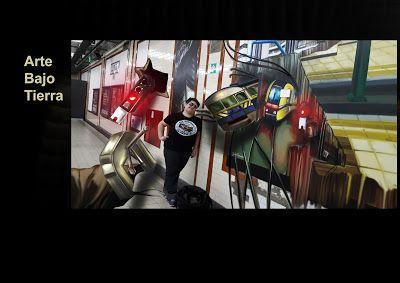 Underground Pictorial (Subterráneo Pictórico): Arte en estación del Metro. (Murales en Subterráne...